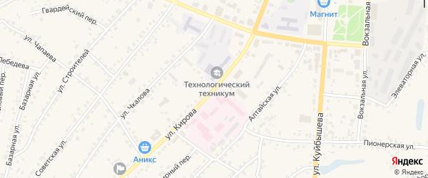 Улица Кирова на карте поселка Тальменки Алтайского края с номерами домов