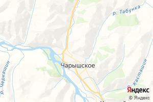 Карта с. Чарышское Алтайский край