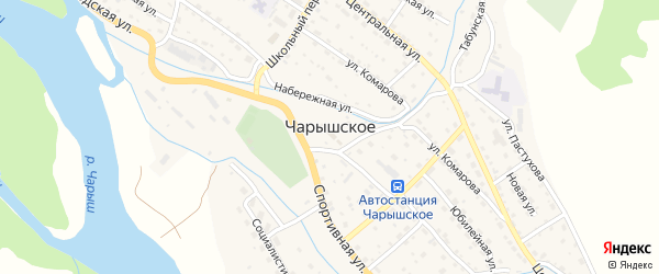 Засосновская улица на карте Чарышского села с номерами домов