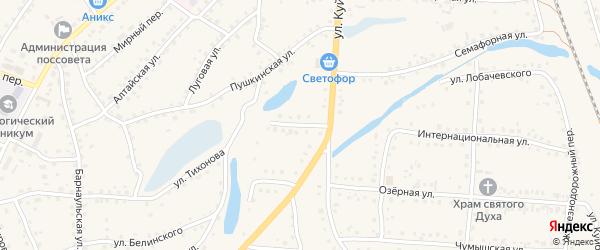 Интернациональный переулок на карте поселка Тальменки Алтайского края с номерами домов