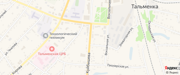 Улица Куйбышева на карте поселка Тальменки Алтайского края с номерами домов