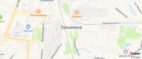 Казарма 160 км на карте поселка Тальменки Алтайского края с номерами домов