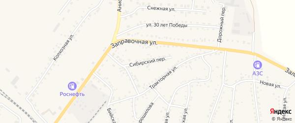 Сибирский переулок на карте поселка Тальменки Алтайского края с номерами домов