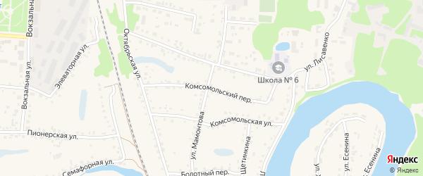 Комсомольский переулок на карте поселка Тальменки с номерами домов