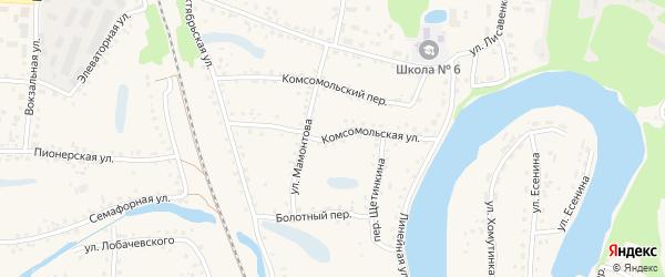 Комсомольская улица на карте поселка Тальменки Алтайского края с номерами домов