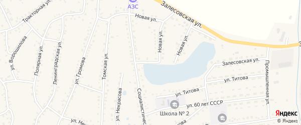 Социалистическая улица на карте поселка Тальменки Алтайского края с номерами домов