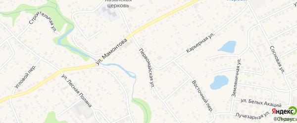 Первомайская улица на карте села Власихи с номерами домов