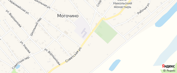 Советская улица на карте села Могочино Томской области с номерами домов