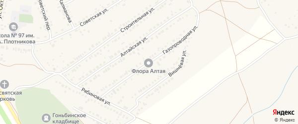 Газопроводная улица на карте села Гоньбы с номерами домов