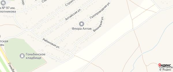 Вишневая улица на карте села Гоньбы с номерами домов