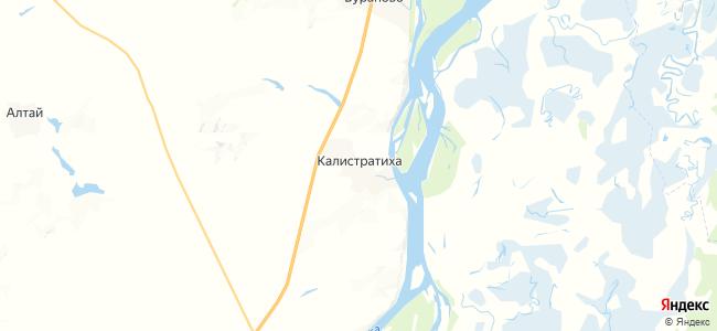 Калистратиха на карте