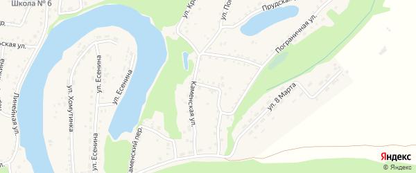 Улица Матросова на карте поселка Тальменки Алтайского края с номерами домов