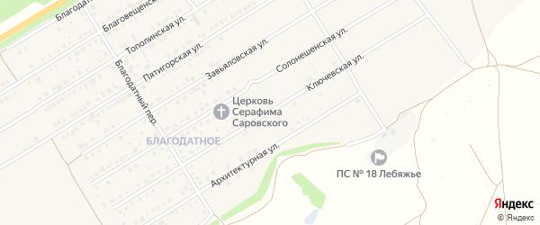 Ключевская улица на карте Центрального поселка с номерами домов