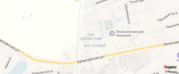 Микрорайон Завода ЖБИ на карте поселка Тальменки с номерами домов