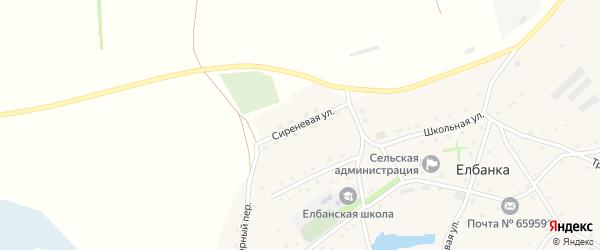 Сиреневая улица на карте села Елбанки с номерами домов
