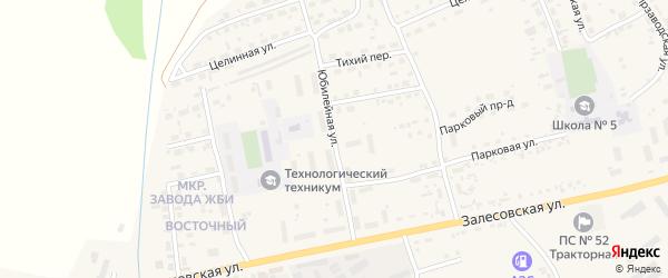 Юбилейная улица на карте поселка Тальменки Алтайского края с номерами домов