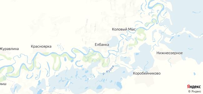 Елбанка на карте