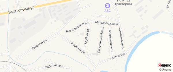 Клубная улица на карте поселка Тальменки с номерами домов