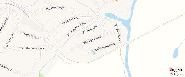 Улица Шукшина на карте поселка Тальменки Алтайского края с номерами домов