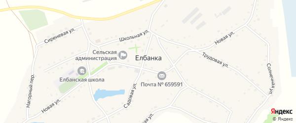 Береговой переулок на карте села Елбанки с номерами домов
