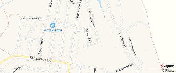 Розовая улица на карте поселка Казенной Заимки с номерами домов
