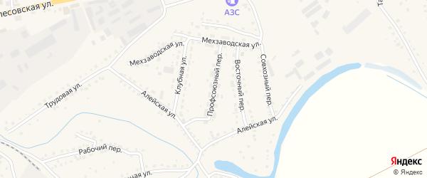 Профсоюзный переулок на карте поселка Тальменки Алтайского края с номерами домов