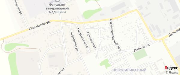 Ореховая улица на карте Пригородного поселка с номерами домов