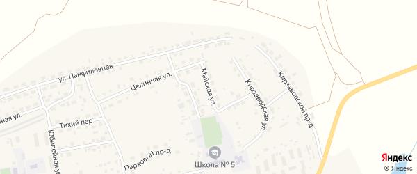 Майская улица на карте поселка Тальменки Алтайского края с номерами домов
