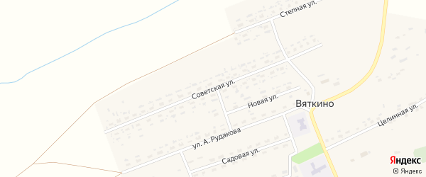 Советская улица на карте села Вяткино с номерами домов