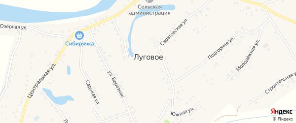Луговская улица на карте Лугового села Алтайского края с номерами домов