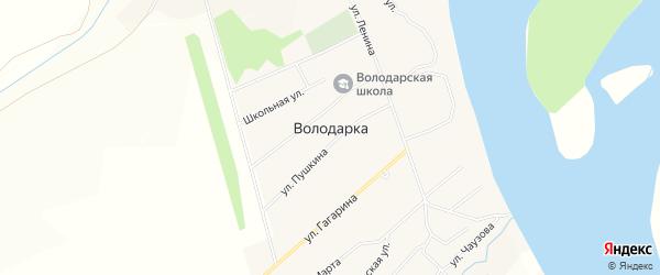 Карта села Володарки в Алтайском крае с улицами и номерами домов