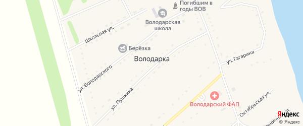 Молодежная улица на карте села Володарки Алтайского края с номерами домов