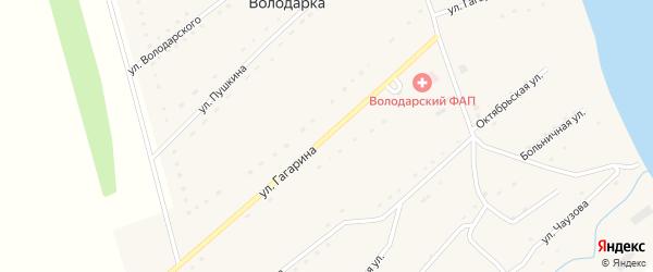 Улица Гагарина на карте села Володарки Алтайского края с номерами домов