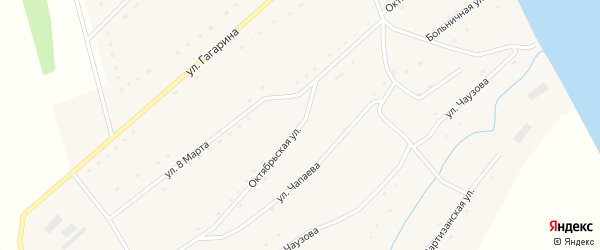 Октябрьская улица на карте села Володарки Алтайского края с номерами домов