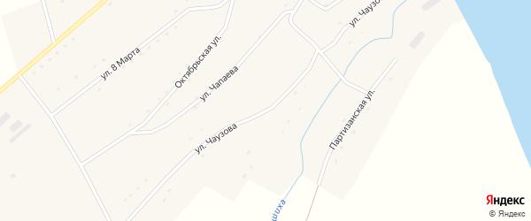 Улица Чаузова на карте села Володарки Алтайского края с номерами домов