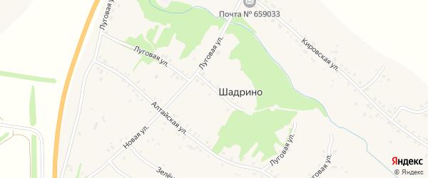Луговая улица на карте села Шадрино Алтайского края с номерами домов
