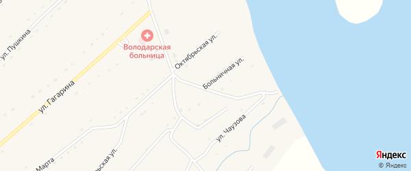 Больничная улица на карте села Володарки Алтайского края с номерами домов