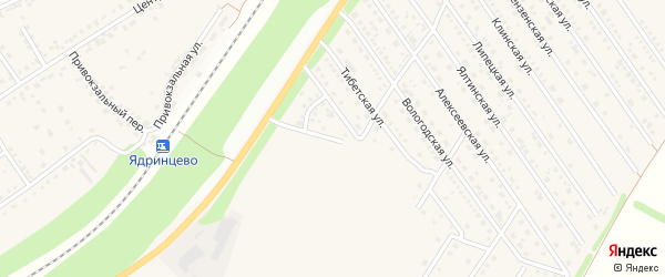 Питерская улица на карте Центрального поселка с номерами домов