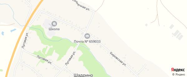 Кировская улица на карте села Шадрино Алтайского края с номерами домов