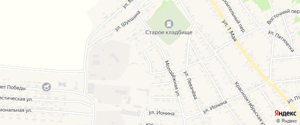 Улица Есенина на карте села Усть-Чарышской Пристани с номерами домов