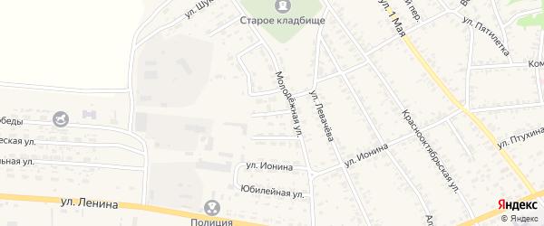 Сибирский переулок на карте села Усть-Чарышской Пристани с номерами домов