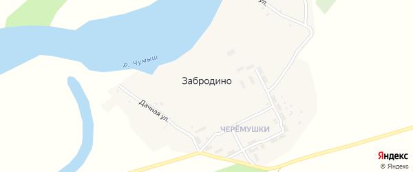 Дачная улица на карте села Забродино с номерами домов