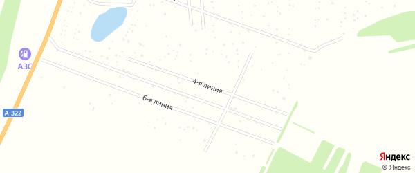 4-я линия на карте территории сдт Степноя-2 с номерами домов