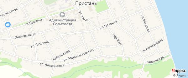 Рабочий переулок на карте села Усть-Чарышской Пристани с номерами домов
