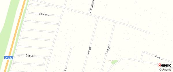 14-я улица на карте садового некоммерческого товарищества Калинки с номерами домов