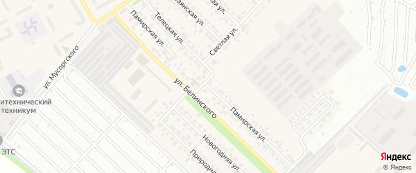 Памирская улица на карте Южного поселка с номерами домов