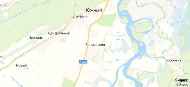 Бельмесево на карте