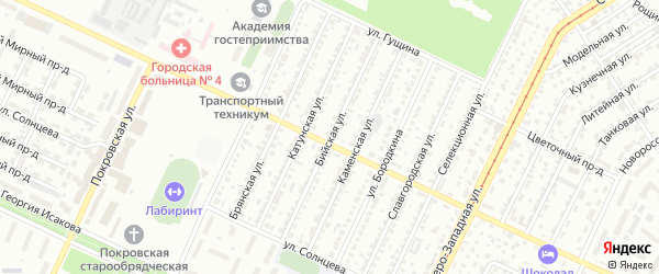 Бийская улица на карте Барнаула с номерами домов