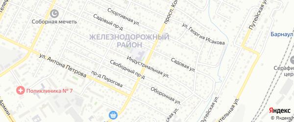 Проспект Коммунаров на карте Барнаула с номерами домов