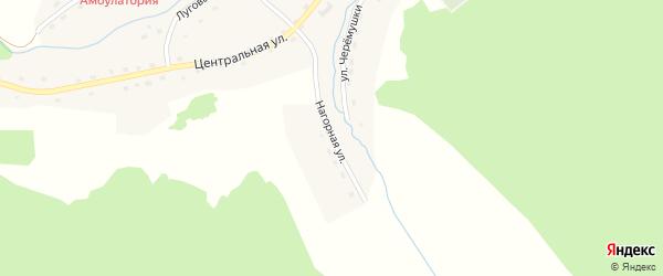 Нагорная улица на карте села Сентелька с номерами домов